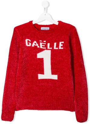 Gaelle Paris Kids TEEN textured logo jumper