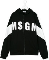 MSGM Teen logo print hoodie - kids - Cotton - 14 yrs