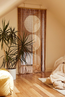 Urban Outfitters Big Dot Bamboo Beaded Curtain