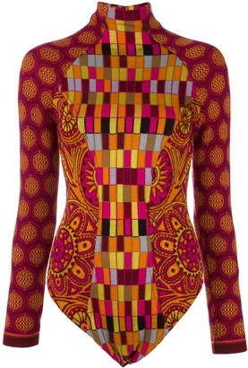 Christian Lacroix Pre-Owned intarsia knit patterned body