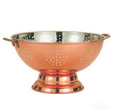 Old Dutch Dcor Copper Footed Colander and Centerpiece