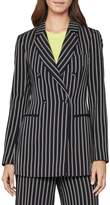 BCBGMAXAZRIA Striped Double-Breasted Jacket