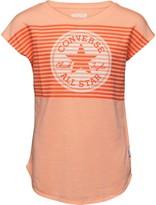 Converse Junior Girls Optic Chuck Patch T-Shirt Sunset Glow