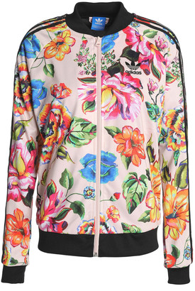 adidas Floral-print Jersey Bomber Jacket