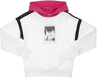 N°21 Printed Cotton Sweatshirt Hoodie