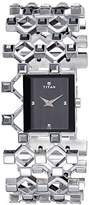 Titan Women's 'Purple' Quartz Stainless Steel Casual Watch, Color:Silver-Toned (Model: 2507SM01)