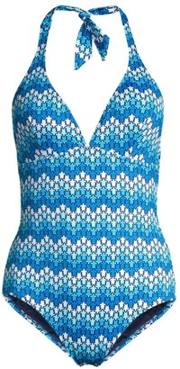 Vilebrequin Famous Printed Halter One-Piece Swimsuit