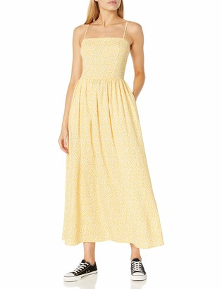 Goodthreads Amazon Brand Women's Georgette Smock-Back Cami Maxi Dress