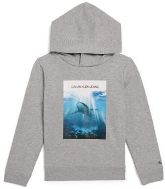 Calvin Klein Kids Shark Photo Print Hoodie