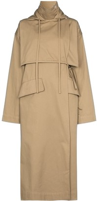 Markoo Hooded Trench Coat
