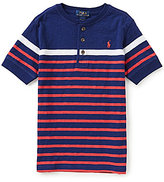 Ralph Lauren Little Boys 5-7 Striped Henley Tee
