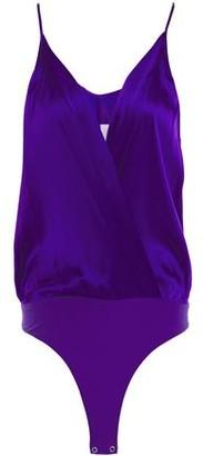 Mason by Michelle Mason Wrap-effect Silk-satin Bodysuit