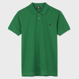 Paul Smith Men's Slim-Fit Green Mercerised-Cotton PS Logo Polo Shirt