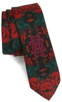 Topman Slim Floral Print Tie