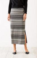J. Jill Jacquard-Knit Maxi Skirt