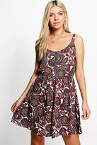 Boohoo Evie Printed Dress