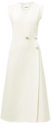 Jil Sander Compact Double-breasted Wrap Dress - Ivory