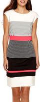 Studio 1 Sleeveless Colorblock Sheath Dress - Petite