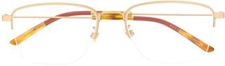 Gucci Semi-Rimless Rectangular Glasses