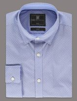 Marks and Spencer Slim Fit Cotton Rich Chambray Shirt