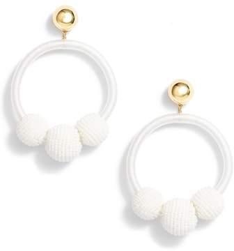Kate Spade The Bead Goes On Hoop Statement Earrings