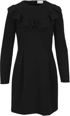 RED Valentino Ruffle-detail Long-sleeve Dress