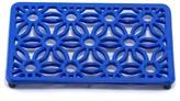 ODI HOUSEWARES Dazzling Blue Rectangular Flora Trivet