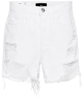 3x1 Blake high-rise denim shorts