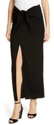 Jenni Kayne Tie Front Crepe Long Skirt