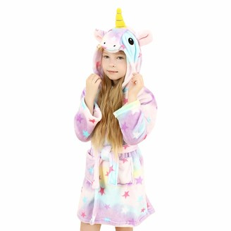 Wgde Toy Unicorn Gifts Toys for Girls Soft Unicorn Hooded Bathrobe Sleepwear for Kids Toys for 8-9 Year Old Girls Unicorn Gifts for 8-9 Year Old Girls (140)