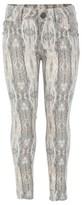 Supertrash Grey and Cream Stretch Trouser