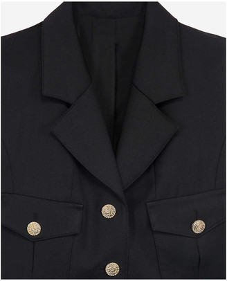 The Kooples Single-breasted textured wool blazer