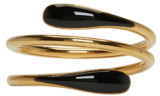 Isabel Marant Gold and Black Wrap Ring