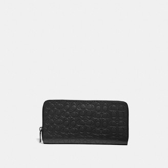 Coach Travel Wallet In Signature Leather