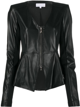 Patrizia Pepe Faux Leather Zip-Up Jacket