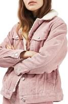Topshop Women's Borg Corduroy Jacket