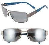 Maui Jim Men's 'Ohia' 64Mm Polarized Sunglasses - Satin Grey With Blue/grey