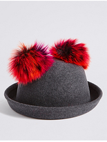 Marks and Spencer Kids' Pure Wool Pom Pom Ears Hat