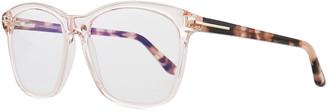Tom Ford Two-Tone Transparent Acetate Square Sunglasses