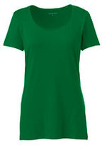 Lands' End Women's Petite Shaped Layering Scoopneck T-shirt-Meadowland Green