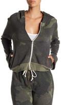 Alternative Eco Fleece Bell Sleeve Camo Cropped Hoodie