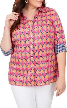 Foxcroft Maria in Summer Status Cotton Sateen Non-Iron Shirt