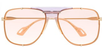 Gucci interlocking GG aviator-frame sunglasses