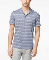 Alfani Men's Angled Glitch Polo, Created for Macy's