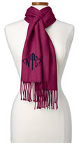 Lands' End Women's CashTouch Solid Scarf-Rich Red Plaid