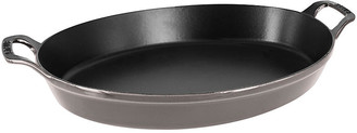 Staub 4-Qt Oval Baking Dish - Gray graphite gray