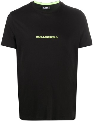 Karl Lagerfeld Paris logo-print cotton T-shirt
