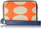 Orla Kiely Oval Printed Leather Mini Hanging Zip Wallet