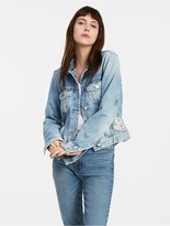 Calvin Klein Jeans Light Blue Distressed Denim Jacket