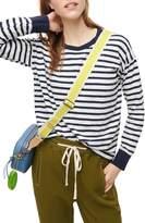 J.Crew Weekend Stripe Long Sleeve Ringer T-Shirt